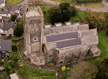 St Martin's Church aerial view - click to see details of our Sunday services
